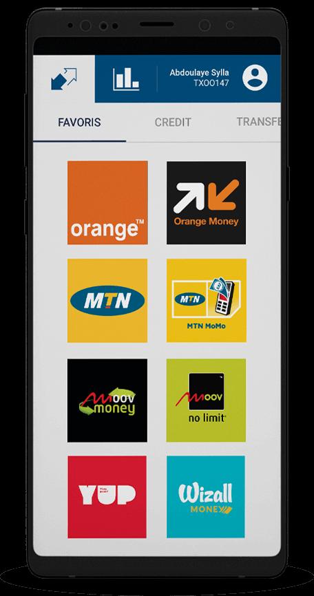 Téléphone mobile avec services touch